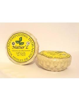 Lot de 2 savons, shampoing dur aux huiles de ricin, 100%naturel