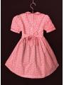 Robe smocks avec manches ballon en coton petites fleurs rose 2