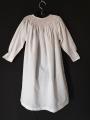 Chemise de nuit smocks longue manches longues tissu en coton blanc
