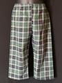 Pyjama chemise pantalon en coton carreaux bleu et vert
