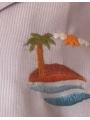 Pyjama chemise pantalon en coton piqué bleu ciel