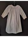 Chemise de nuit smocks longue, manches longues en flanelle blanc 3 ans à 14 ans