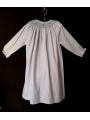 Chemise de nuit smocks longue manches longues en flanelle bleu ciel 3 ans à 14 ans