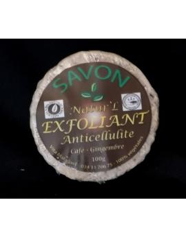 Savon Exfoliant Anticellulite au café et gingembre 100% naturel