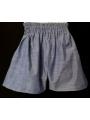Short smocks en coton bleu