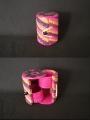Mini boite à bijoux en raphia multicolore avec compartiments