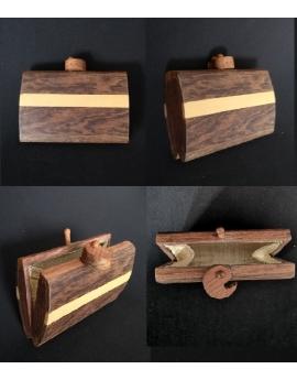 Porte monnaie en bois GM