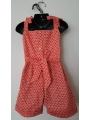 Combi short smocks rouge imprimé papillon en coton