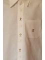 Chemise blanche classique brodée - manches longues, baobab