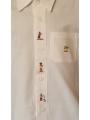 Chemise blanche classique brodée - manches longues, personnage